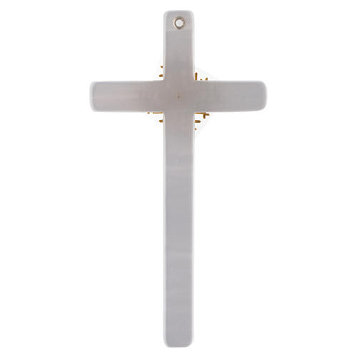 Holy Spirit cross in mother of pearl imitation 3