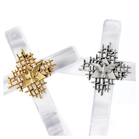 Krzyż imitacja masy perłowej Bóg Ojciec i Duch Å s4