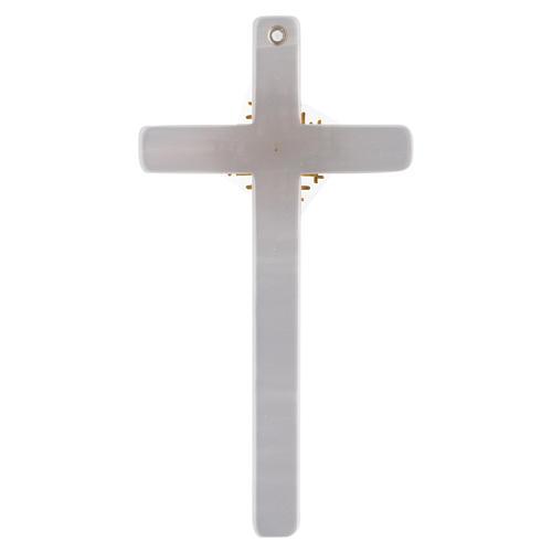 Krzyż imitacja masy perłowej Bóg Ojciec i Duch Å 3