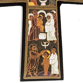 Croce legno Natività stampa 14x9 s4
