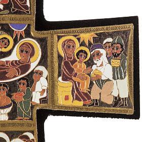 Croce legno Natività stampa 14x9 s5