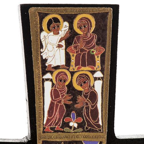 Croce legno Natività stampa 14x9 3
