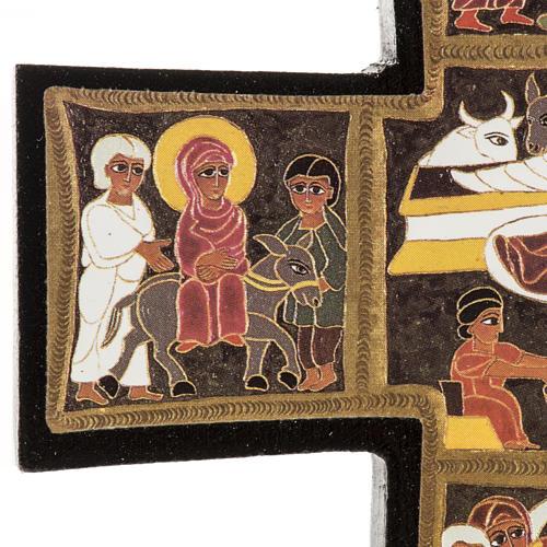 Croce legno Natività stampa 14x9 6
