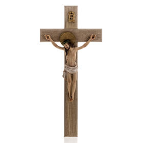 Wooden crucifix 40cm with Body in resin s1