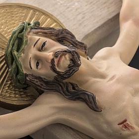 Crucifijo madera 40 cm cuerpo resina s4