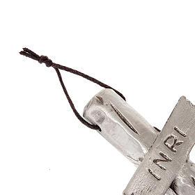 Crocefisso  Giovanni Paolo II argentato 26 cm s4