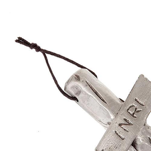 Crocefisso  Giovanni Paolo II argentato 26 cm 4