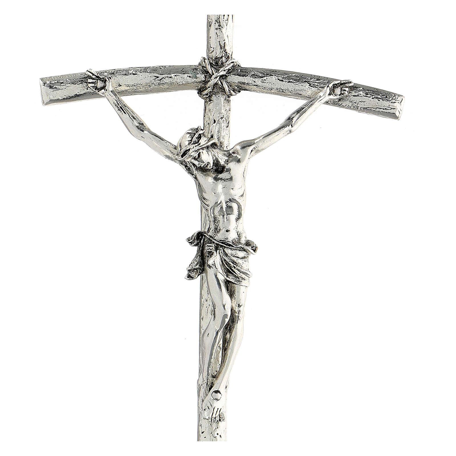 Crucifix, Pope John Paul II pastoral cross 12x28cm 4