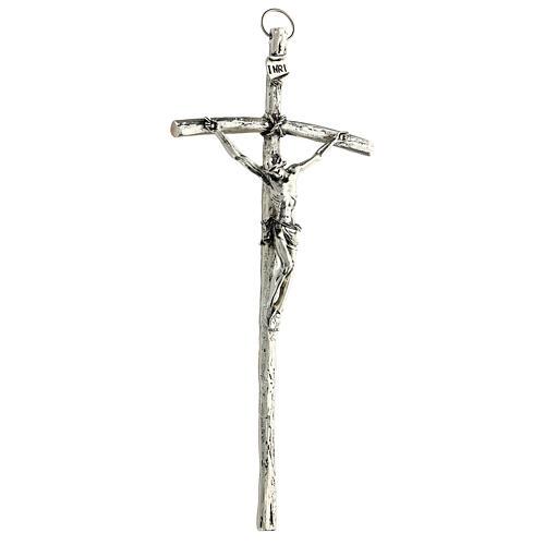 Crucifix pastoral Jean Paul II 12x28 cm 3