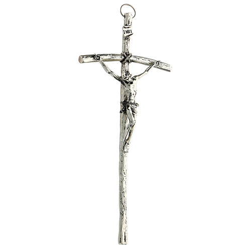 Crocefisso pastorale Giovanni Paolo II 12x28cm 3