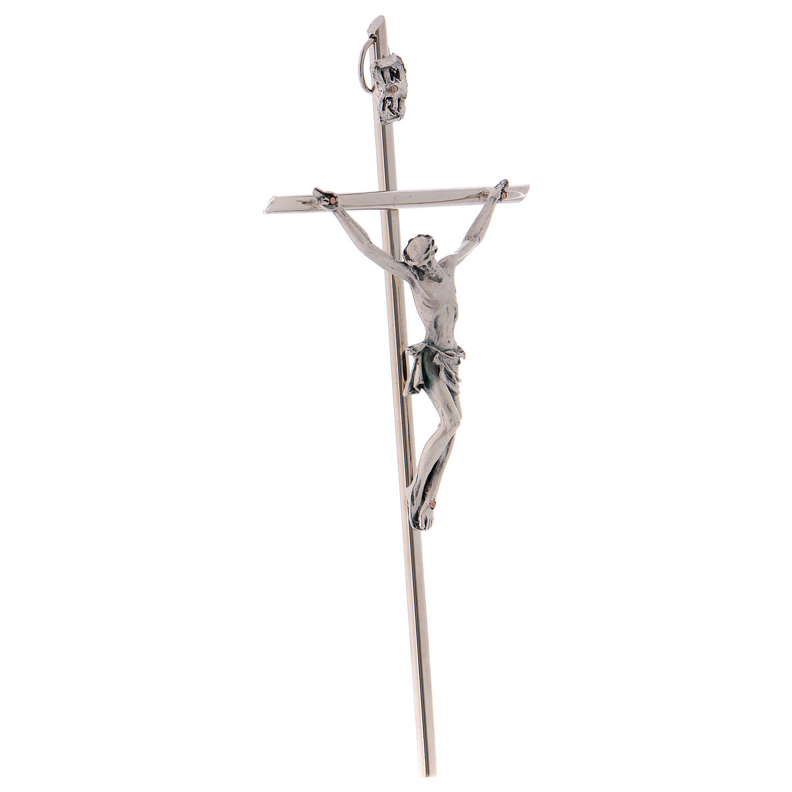 Crucifijo metal clásico- cruz recta 4