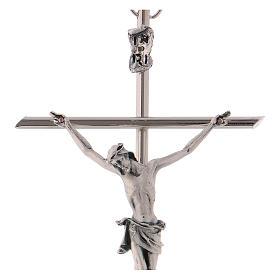 Crucifijo metal clásico- cruz recta s2
