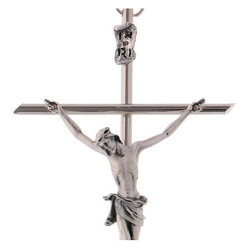 Crucifijo metal clásico- cruz recta 2