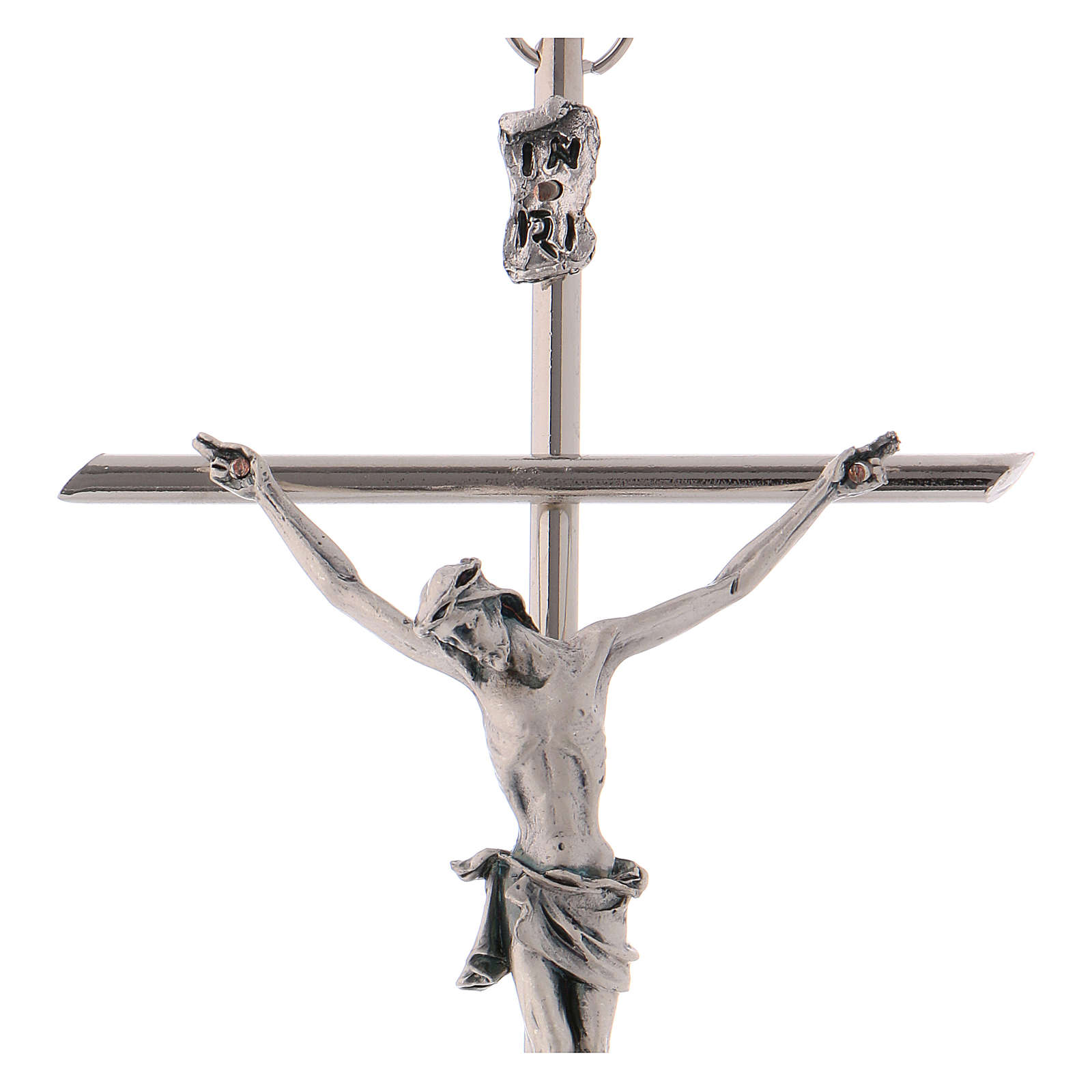 Crucifix, classic in metal with straight cross 4