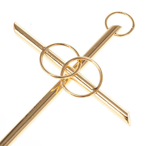 Cruz dos noivos dourada 3