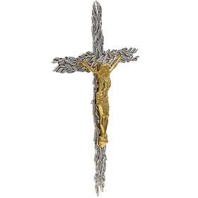 Crucifix en bronze feuilles olivier, fruits s3