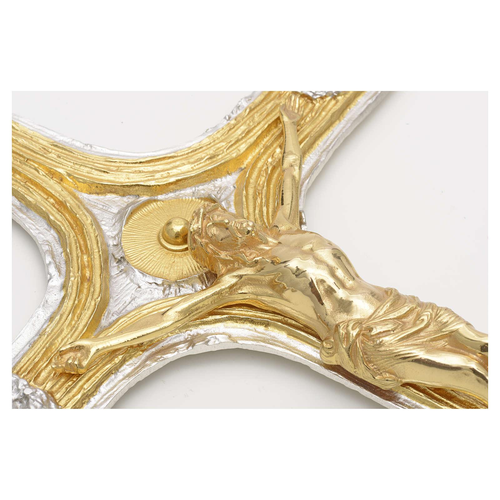 Crocefisso bronzo scernito bicolore 4