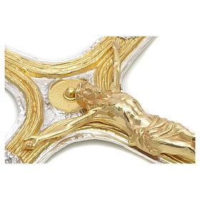 Crocefisso bronzo scernito bicolore s4