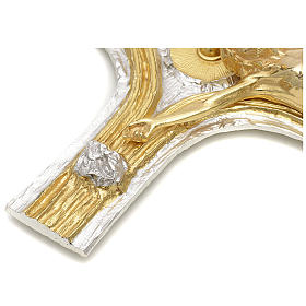 Crocefisso bronzo scernito bicolore s5