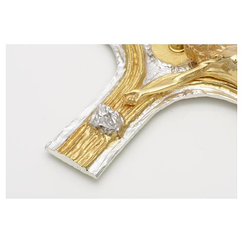 Crocefisso bronzo scernito bicolore 11