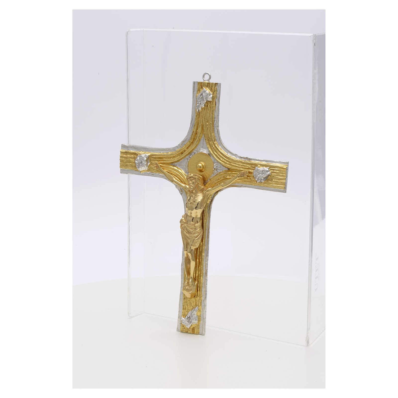 Bronze Crucifix with Bi-colored Decorations 4