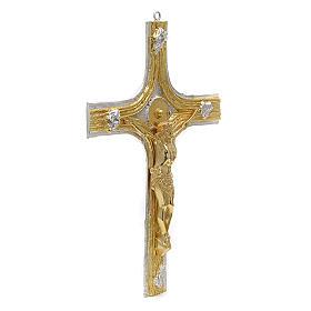 Bronze Crucifix with Bi-colored Decorations s2