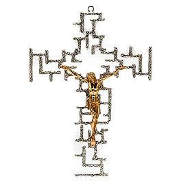 Crucifijo moderno de bronce s1