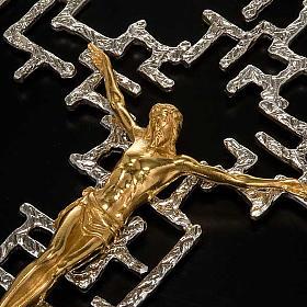 Crucifijo moderno de bronce s3