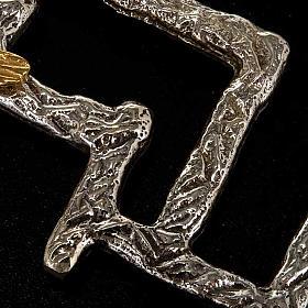 Crucifijo moderno de bronce s5