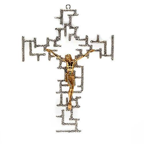 Crucifijo moderno de bronce 1