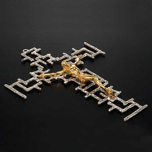 Crucifijo moderno de bronce 2