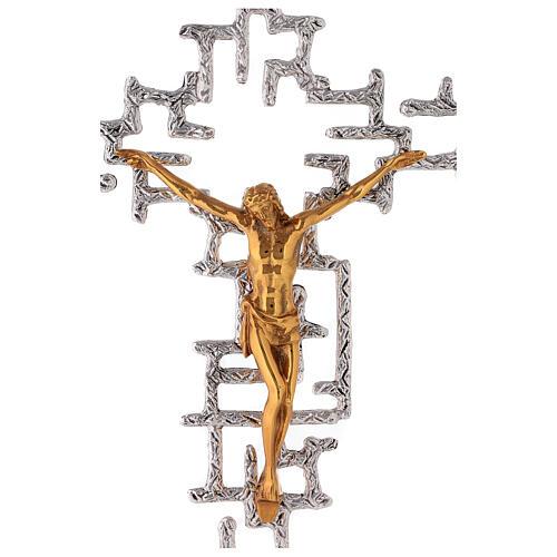 Modern crucifix in bronze 2