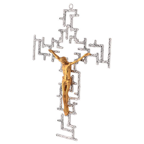 Modern crucifix in bronze 3
