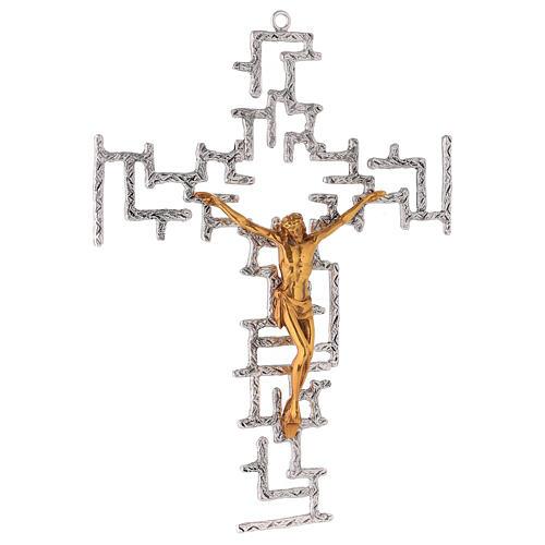 Modern crucifix in bronze 4
