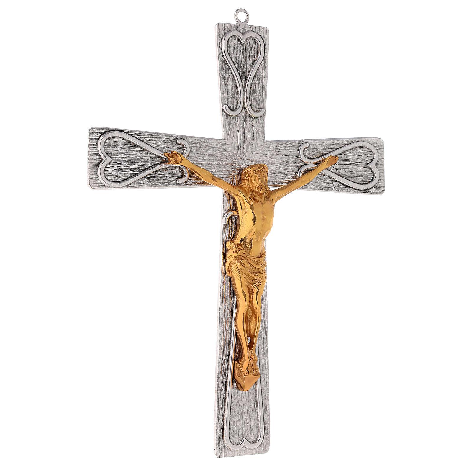 Crucifix en bronze, décoré 4