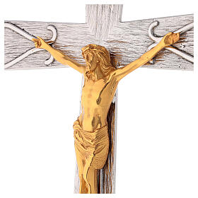 Crucifix en bronze, décoré s2