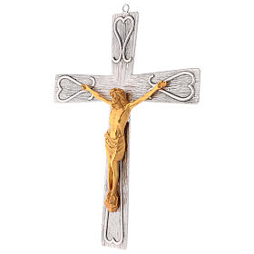 Crucifix en bronze, décoré s3