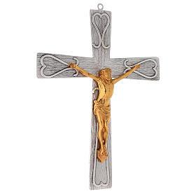 Crucifix en bronze, décoré s4