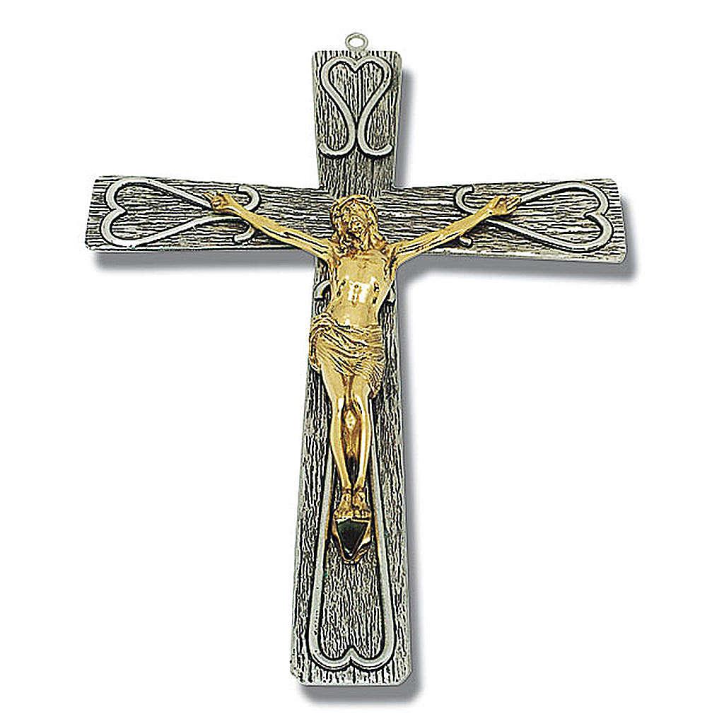 Crucifix in decorated bronze 4