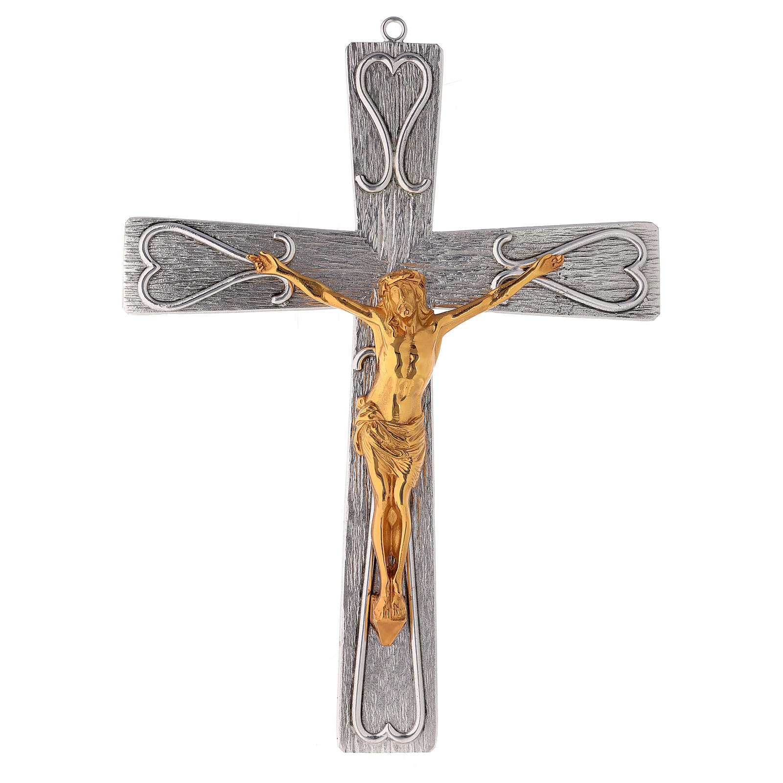 Crucifix in decorated bronze 4