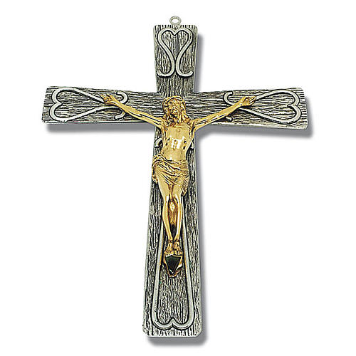 Crucifix in decorated bronze 1