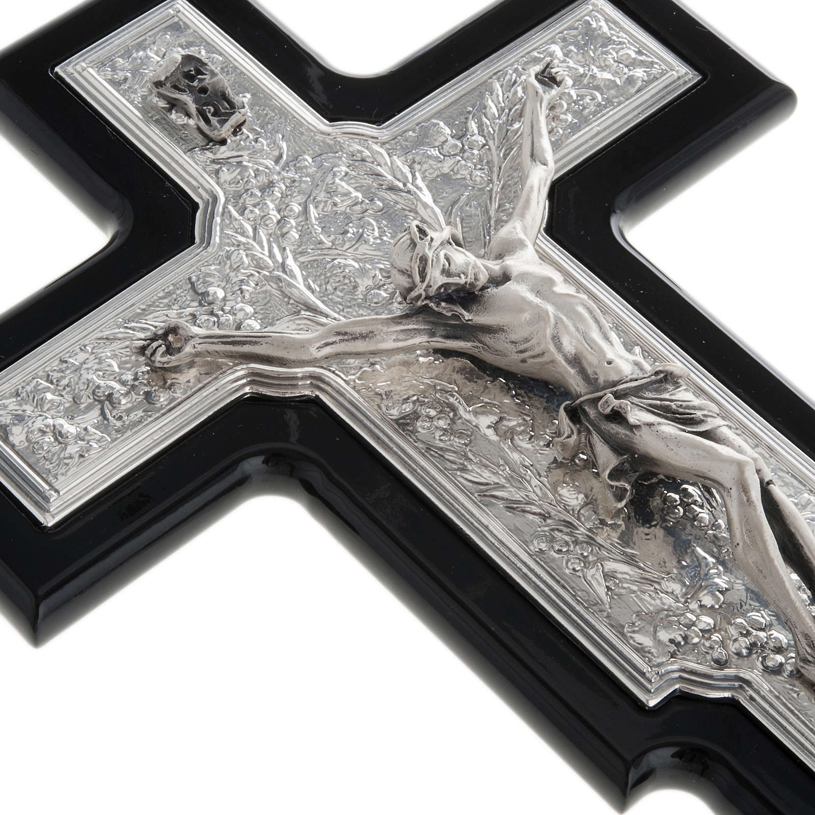 Crucifix argent 925/00 bois foncé 4