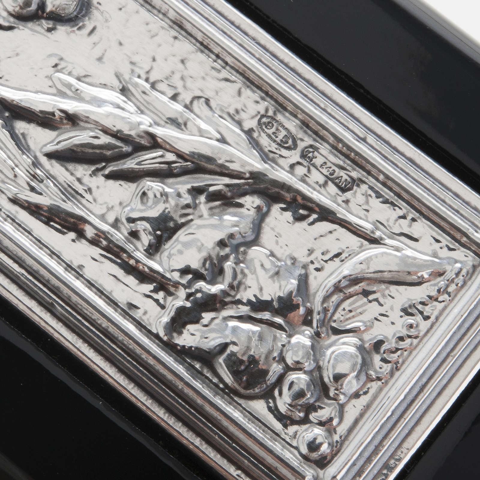 Crocifisso argento 925/00 su legno nero 4