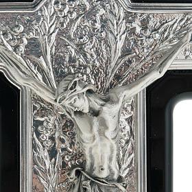 Crocifisso argento 925/00 su legno nero s2