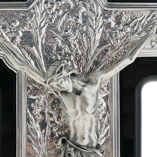 Crocifisso argento 925/00 su legno nero 2