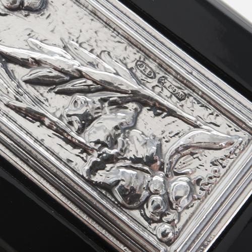 Crocifisso argento 925/00 su legno nero 5