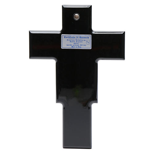 Crucifix doré argenté sur bois 3