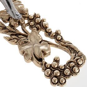 Crucifix doré argenté raisins 24 cm s5