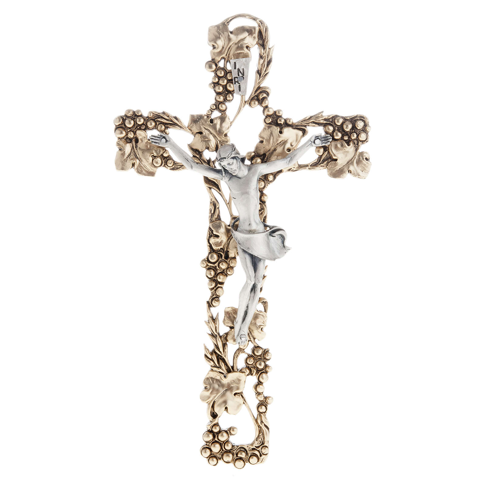Crucifix, gold-plated with grape branches 24cm 4