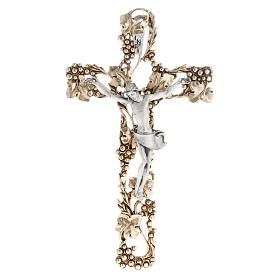 Crucifix, gold-plated with grape branches 24cm s1